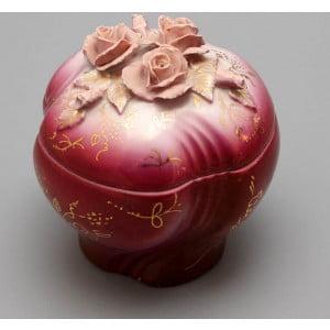 Фарфоровая шкатулка с розами, Дулево