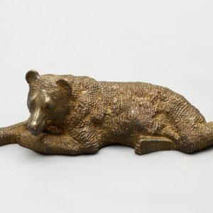 """Интерьерная бронзовая статуэтка """"Медведь"""", Россия, нач. 20 в."""