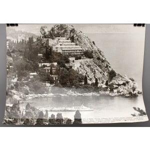 Советское большеформатное  фото «Лето в Крыму, Гурзуф, Украинская ССР» из архива агентства «Фотохроника ТАСС»