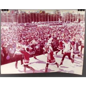 Советское большеформатное  фото «XII Международный фестиваль молодежи и студентов» из архива агентства «Фотохроника ТАСС», 1985 г.