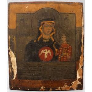Старинная икона Божией Матери «Знамение», Россия, 19 в.