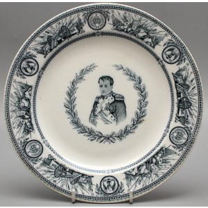 Фаянсовая тарелка «Наполеон Бонапарт», Англия, Стаффордшир Буслем, завод Э. Ф. Бодли и компания, 1870-1880 гг.