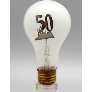 Редкая агитационная лампочка «Крейсер Аврора» в честь 50-летнего юбилея Октябрьской революции, СССР, 1967 г.