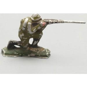 Старый довоенный оловянный солдатик «Пулеметчик», ИЗО ЦПКиО, 1930-40 гг.
