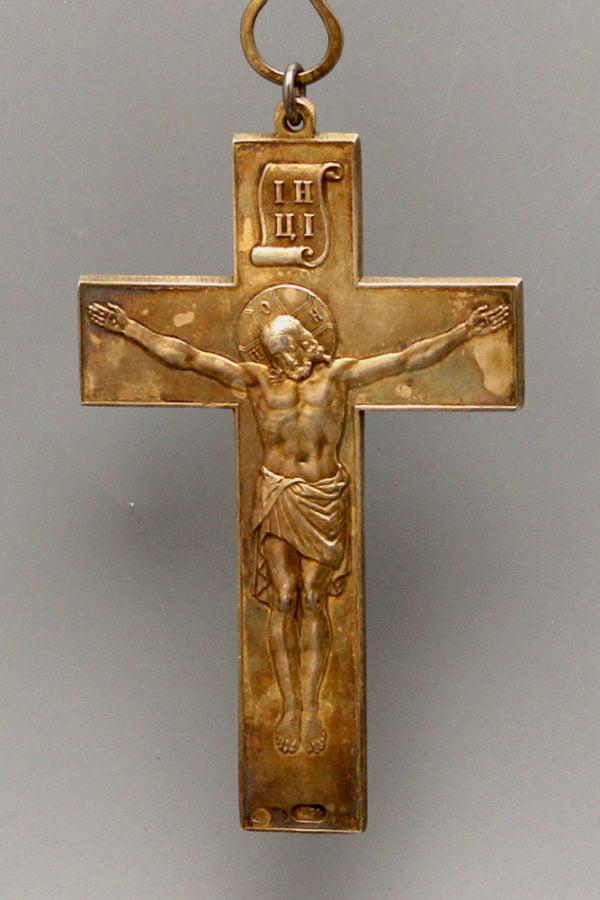 Павловский Протоиерейский наперсный серебряный наперсный крест, 84 пр.