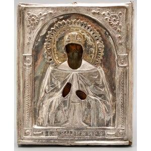 Старинная икона Святого Владимира в окладе