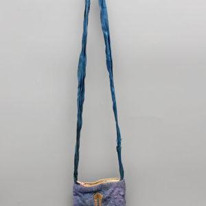 Старинная сумочка паломника через плечо, ручная работа