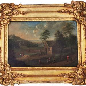 "Н/Х. Картина ""Пейзаж"". Голландия, начало 19-го века."