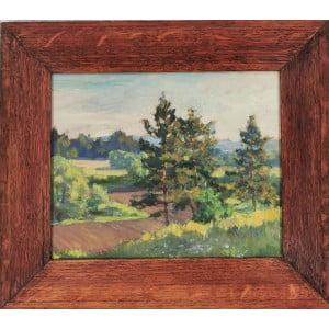 "Трофимов (1878 -1956 гг.). Картина ""Летний пейзаж""."