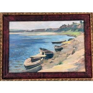 """Трофимов (1878-1956 гг.). Картина """"Лодки""""."""