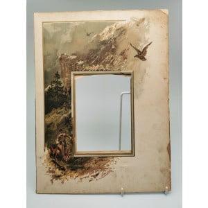Лист из альбома для фото с литографией Каразина.